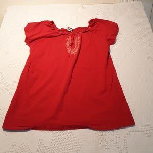 take nine maternity short sleeve top